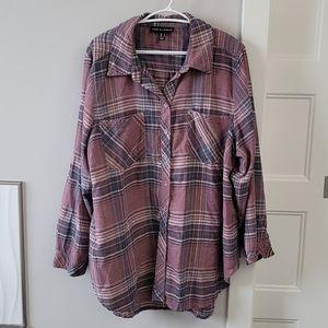 Long sleeve plaid button down shirt.  Size 22.